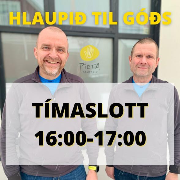 Kl. 16:00-17:00 (Hlaupið til góðs, 23. janúar)
