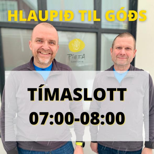Kl. 07:00-08:00 (Hlaupið til góðs, 23. janúar)